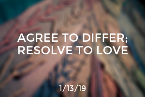 Agree to Differ; Resolve to Love